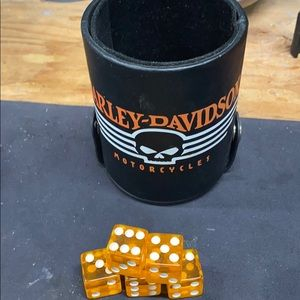 Harley Davidson dice cup with dice